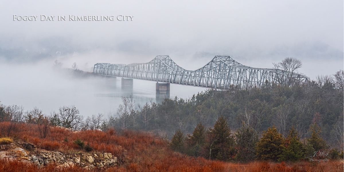 foggy Kimberling City Bridge